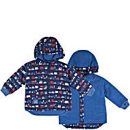 Куртка детская непромокаемая на флисе двусторонняя JoJo Maman Bébé