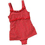 Купальник детский сплошной для бассейна Playshoes Горох Красный