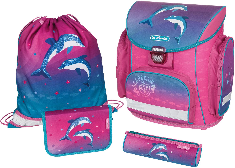 Ранец Herlitz Midi Plus Dolphin Love с наполнением 4 предмета, - фото 1