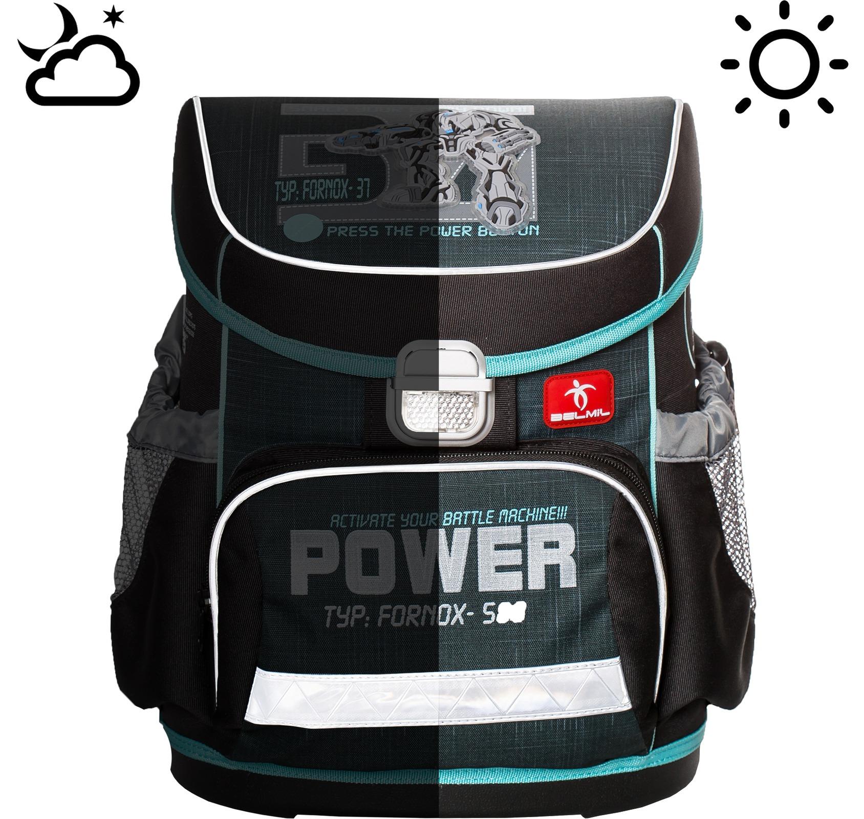 Ранец Belmil 405-33 MINI-FIT APPLE + мешок и пенал + фломастеры , - фото 11