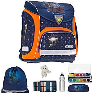 Школьный ранец Herlitz Sporti Plus Pirate с наполнением 4 предмета + подарок