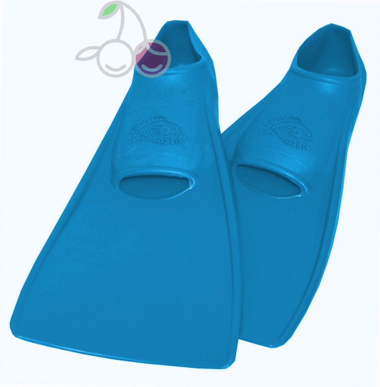 Ласты для бассейна резиновые детские размеры 23-24 синие ПРОПЕРКЭРРИ (ProperCarry), - фото 1
