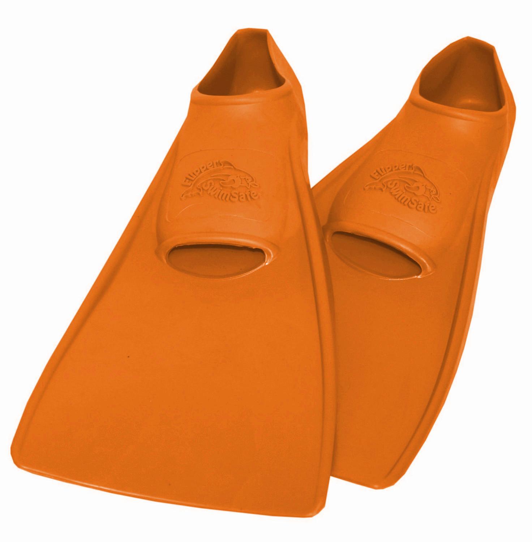 Ласты ProperCarry детские закрытая пятка для бассейна резиновые размер - 26 оранжевые ПРОПЕРКЭРРИ, - фото 1