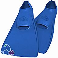 Ласты детские эластичные маленький размер 24 синие закрытая пятка ProperCarry (ПРОПЕРКЭРРИ)