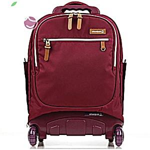 Школьный рюкзак на колесах для девочки – ранец Wheelpak Classic BORDO – арт. WLP3200 (для 2-4 класс, 21 литр)