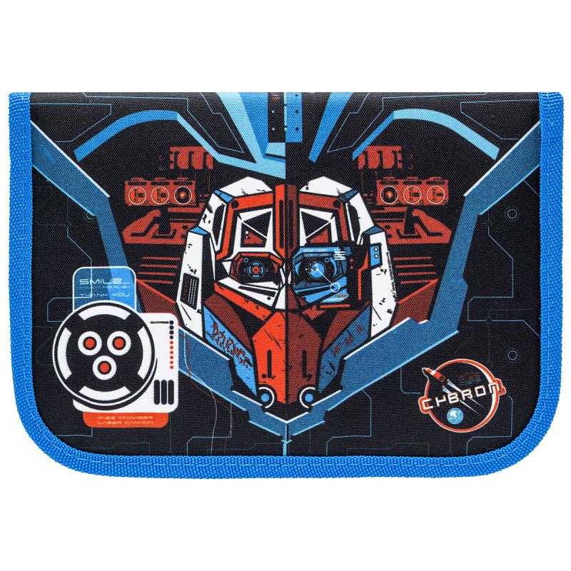 Пенал с наполнением для мальчика Трансформер синий Tiger Family 23 предмета, - фото 3